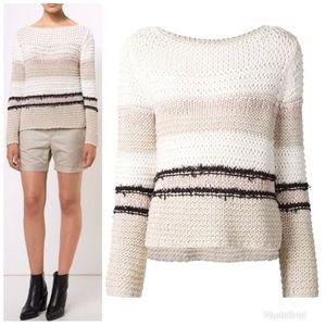 Rag & Bone Open Knit Striped Sweater